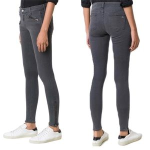 Rag & Bone Moto Zippered Stretch Skinny Jeans 25